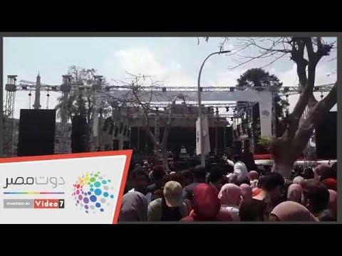 استعدادات جامعة عين شمس لحفل الفنان رامى صبري  - 14:54-2019 / 4 / 18