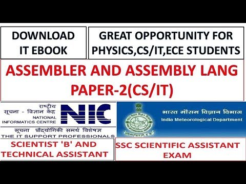 Assembler and Assembly Language For SSC Scientific Assistant and NIC Exam 2017