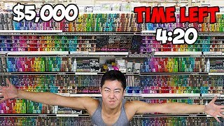 Spending $5,000 On Art Supplies In 15 Minutes Shopping Spree Challenge
