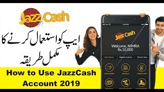 How to Use and Create JazzCash account 2019