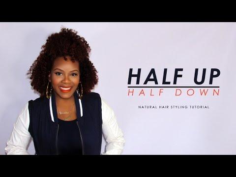 Half Up Half Down Styling Tutorial On Natural Hair Etcblogmag