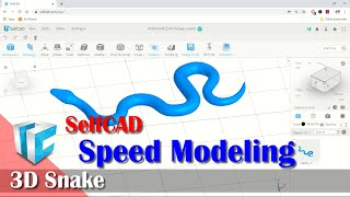 SelfCAD Basic 3D Snake Speed Modeling