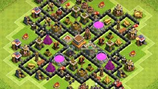 Town hall 8| top hog rider attack| Clash Of Clans| TCG