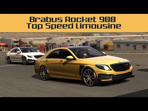 Mercedes Brabus Rocket 900, Top Speed Limousine (Assetto Corsa Mod Review and Free Download)
