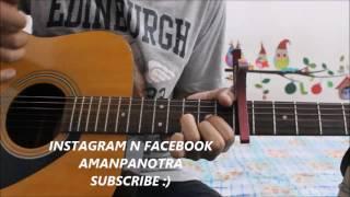 Despacito - Justin Bieber Ft. luis Fonsi - Hindi Guitar lesson simple chords and strumming