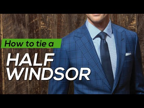 How to tie a half windsor tie knot thin tie youtube how to tie a half windsor tie knot thin tie ccuart Gallery
