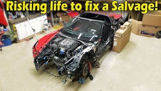 Rebuilding a Wrecked 2016 Corvette Z06 (Part 3) &quotNot From Copart&quot