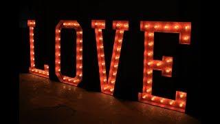 Буквы LOVE с лампочками для фотосессии в аренду