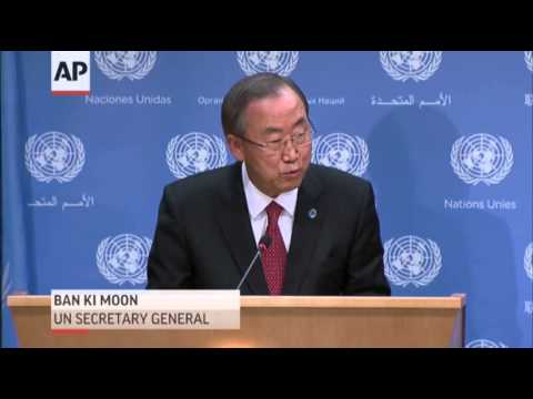 Ban Ki-moon on Possible Use of Force in Syria