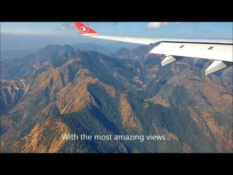 Amazing Flight into Kathmandu Nepal