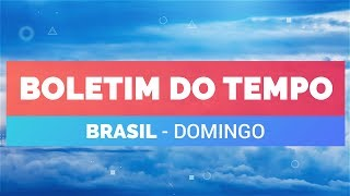 Previsão Brasil - Temporais em várias áreas