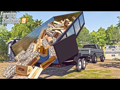 FIREWOOD DELIVERY | NEW DUMP TRAILER 16ft | WOOD WORKS #7 | FS19
