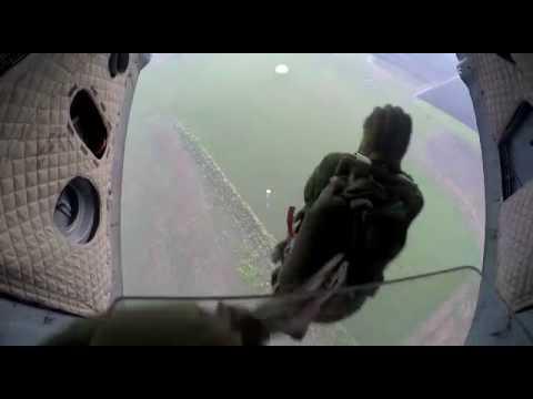 Прыжок с ми -8 на Д-10