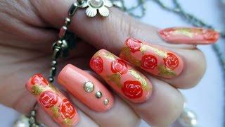 видео Оранжевый маникюр и коралловый лак для ногтей