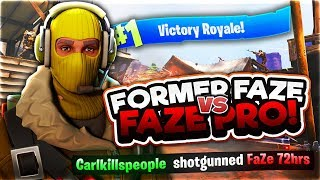 Former FaZe VS FaZe Pro! (CarlRed Vs FaZe 72hrs Fortnite 1v1)