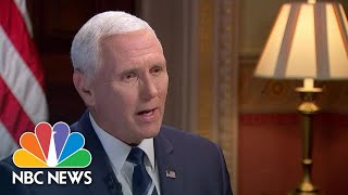 Vice President Mike Pence On Pride Flag At Embassies: I Support 'One Flag Should Fly' | NBC News