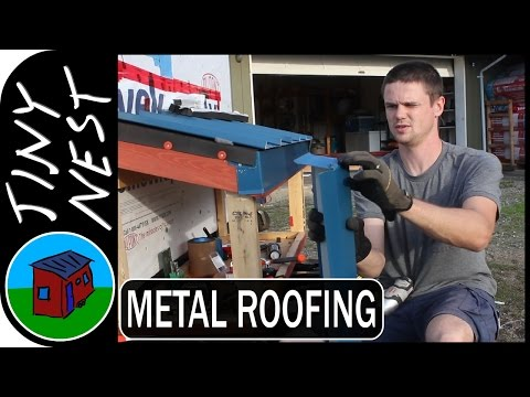 Installing the Metal Roof on our Tiny House - Part 2 (Ep.17)