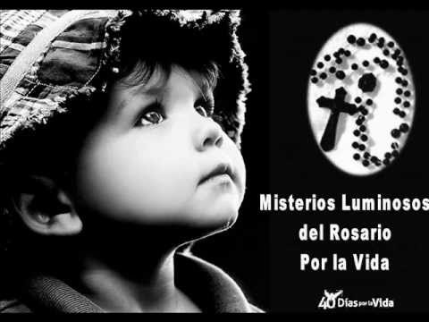 Santo Rosario por la Vida. Luminosos. Misterios del Rosario Con los Niños de Derecho a Vivir Lugo.