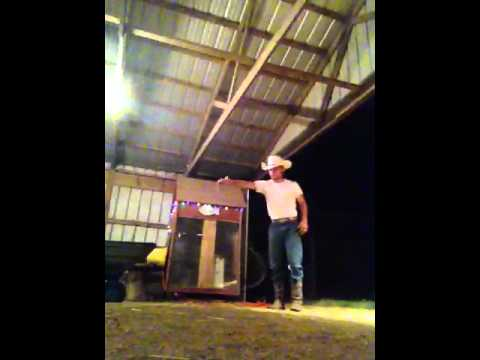 Trick Roping in the barn