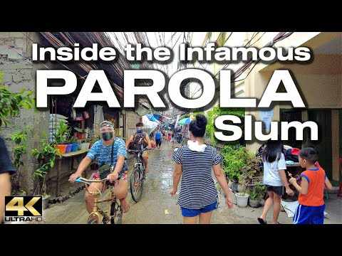 Slum Lifestyle in the PAROLA COMPOUND Tondo Manila - Virtual Tour [4K]