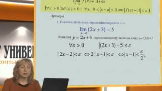 Лекция 6: Функция. Предел функции в точке и бесконечности. Теоремы о пределах