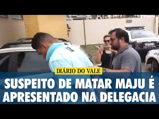 Suspeito de matar Maria Júlia é apresentado na delegacia de Barra Mansa