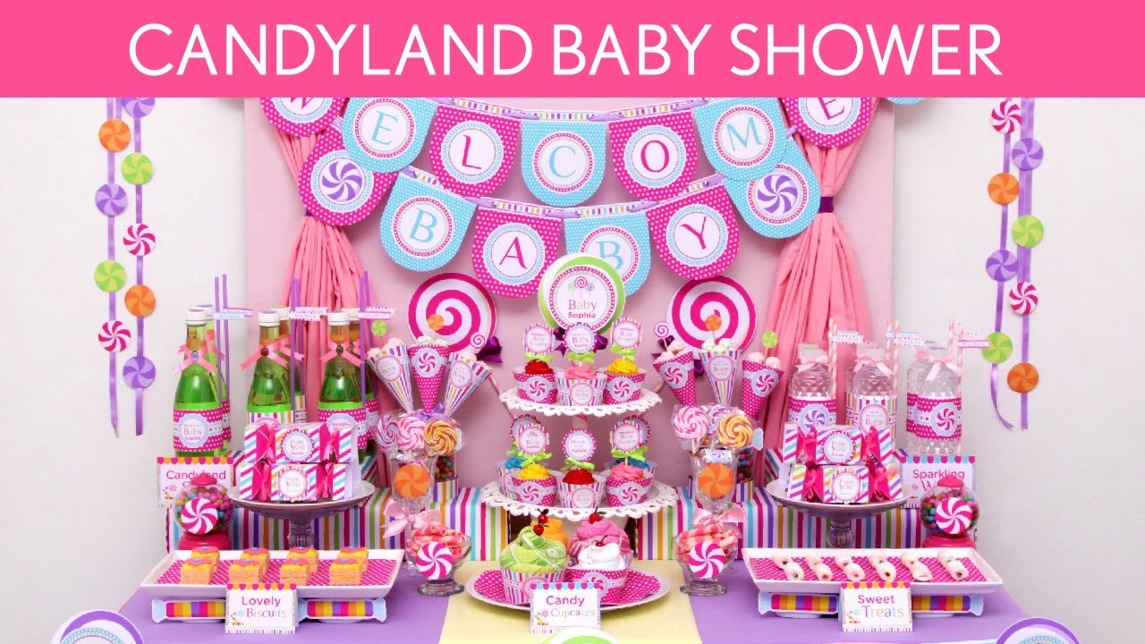 Candyland Baby Shower Party Ideas // Candyland - S16 - YouTube