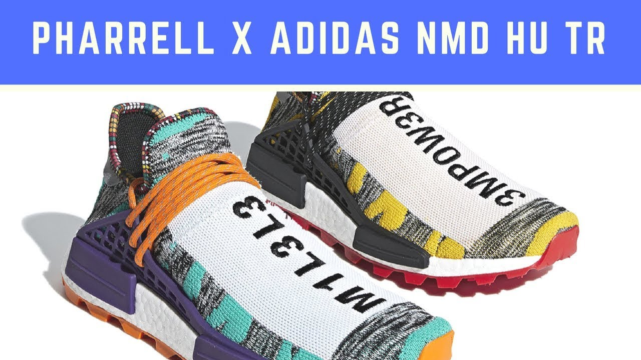 "b8f525b85 Pharrell x adidas NMD Hu ""Solar Pack"" Releases On August 18th - YouTube"
