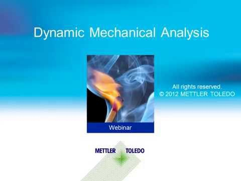 Dynamic Mechanical Analysis (DMA) – online training course