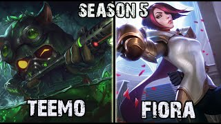 Best Teemo NA vs Fiora TOP Ranked Challenger