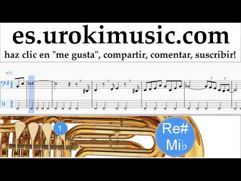 Como Tocar Tuba The Pink Panther - Theme Song Tablatura Parte#2 um-i927