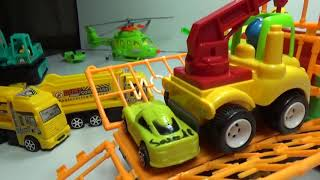 Baby Toys - farmer truck transports trucks and cars | truck toys | car toys
