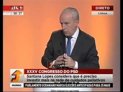 Intervenção de Pedro Santana Lopes no XXXV Congresso Nacional do PSD.