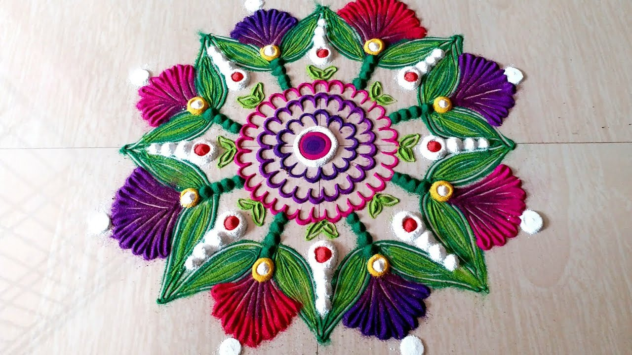 Happy New Year Best Rangoli 63