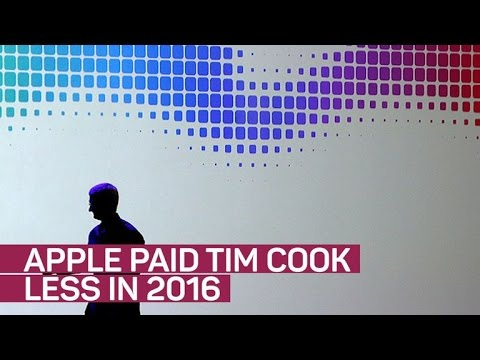 Apple's Tim Cook gets a pay cut