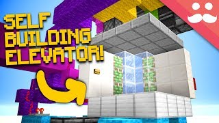 Making A SELF BUILDING ELEVATOR in Minecraft 1.13!