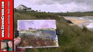 The Bluff Inn, Hayle, Cornwall in Watercolour