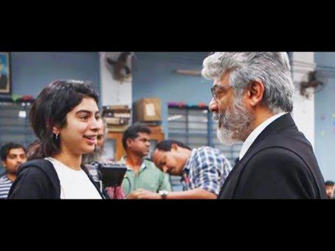 Sridevi daughter Khushi Kapoor met Ajith on Ner Konda Paarvai Shooting Spot   Hot Tamil Cinema News