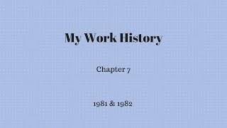 Gambar cover My Work History - Chapter 7