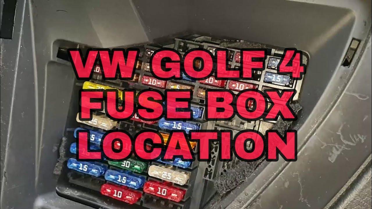 🚗👨🔧 VW Golf MK 4 Fuse Box Location - YouTubeYouTube
