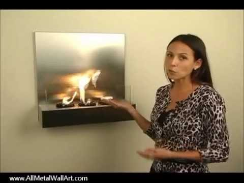 Wall Mounted Fireplaces - YouTube