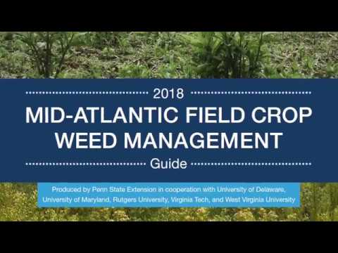 Mid-Atlantic Weed Management Guide AGRS-136 Introduction