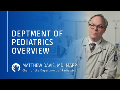 Matthew Davis, MD, MAPP - Chair Of The Department Of Pediatrics