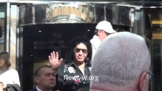 KISS are in hurry going to the rehearsal day before live show in Moscow 30.04.2017