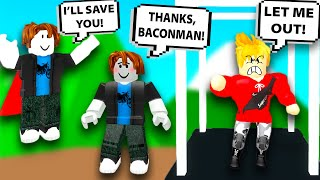 ROBLOX BACON SAVES BACON FROM BULLY! Roblox Admin Commands | Roblox Funny Moments!