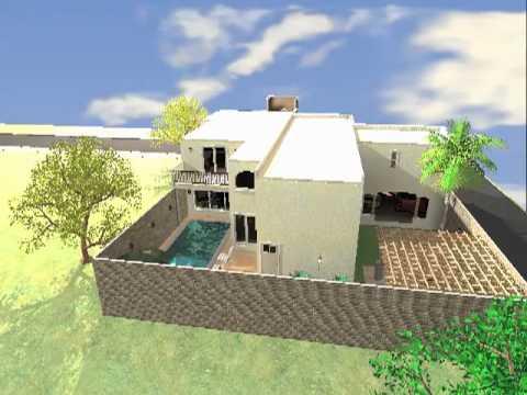 Proyecto casa habitacion planta baja youtube - Plantas para habitacion ...