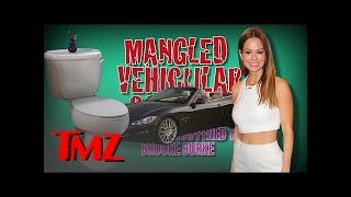 Did Brooke Burke Drive Into a Fence On Purpose?? | TMZ