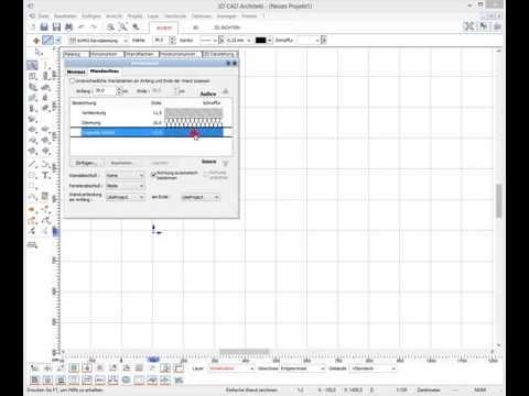 Wände zeichnen mit dem 3D CAD Architekt – www.concadus.de