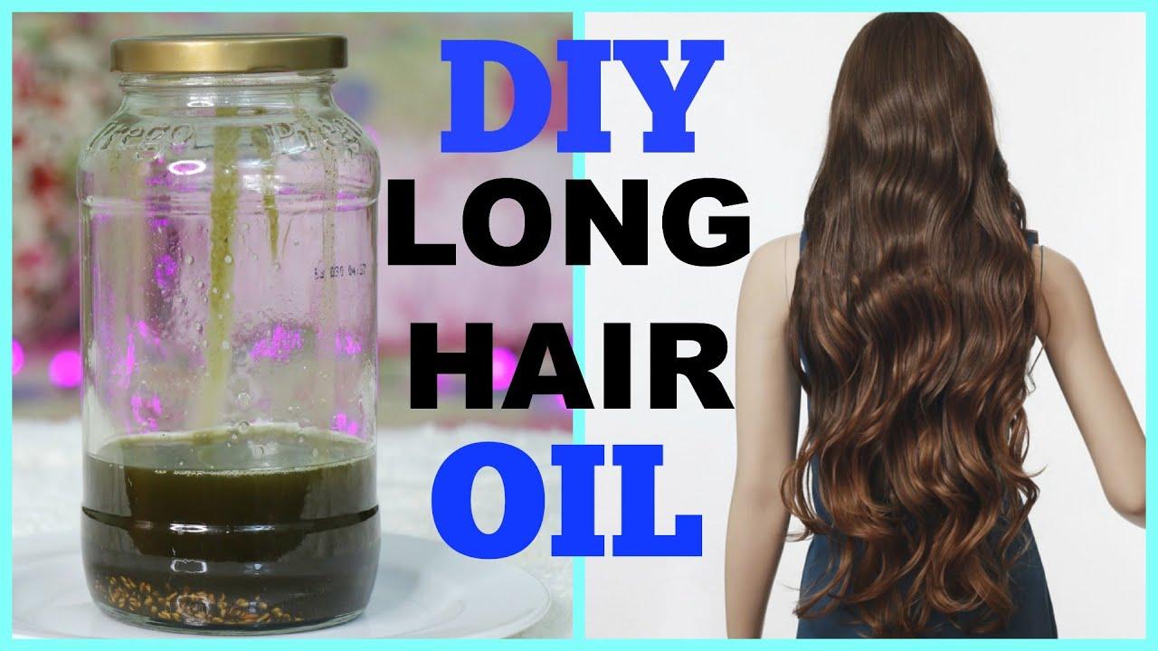 diy hair growth oil long shiny