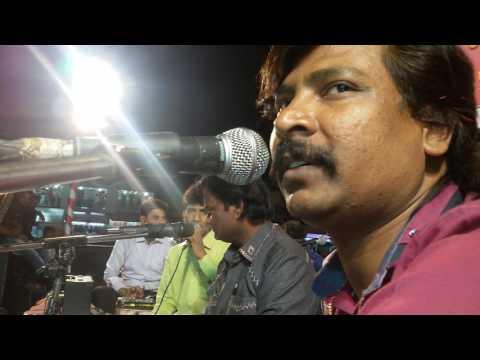 On stage dharpakad Anand shinde with Chandan Kamble